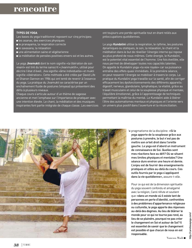 Carol Issa, Femme Magazine -2